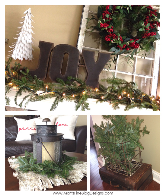 Pinterest Inspired Christmas | Inexpensive holiday decorating