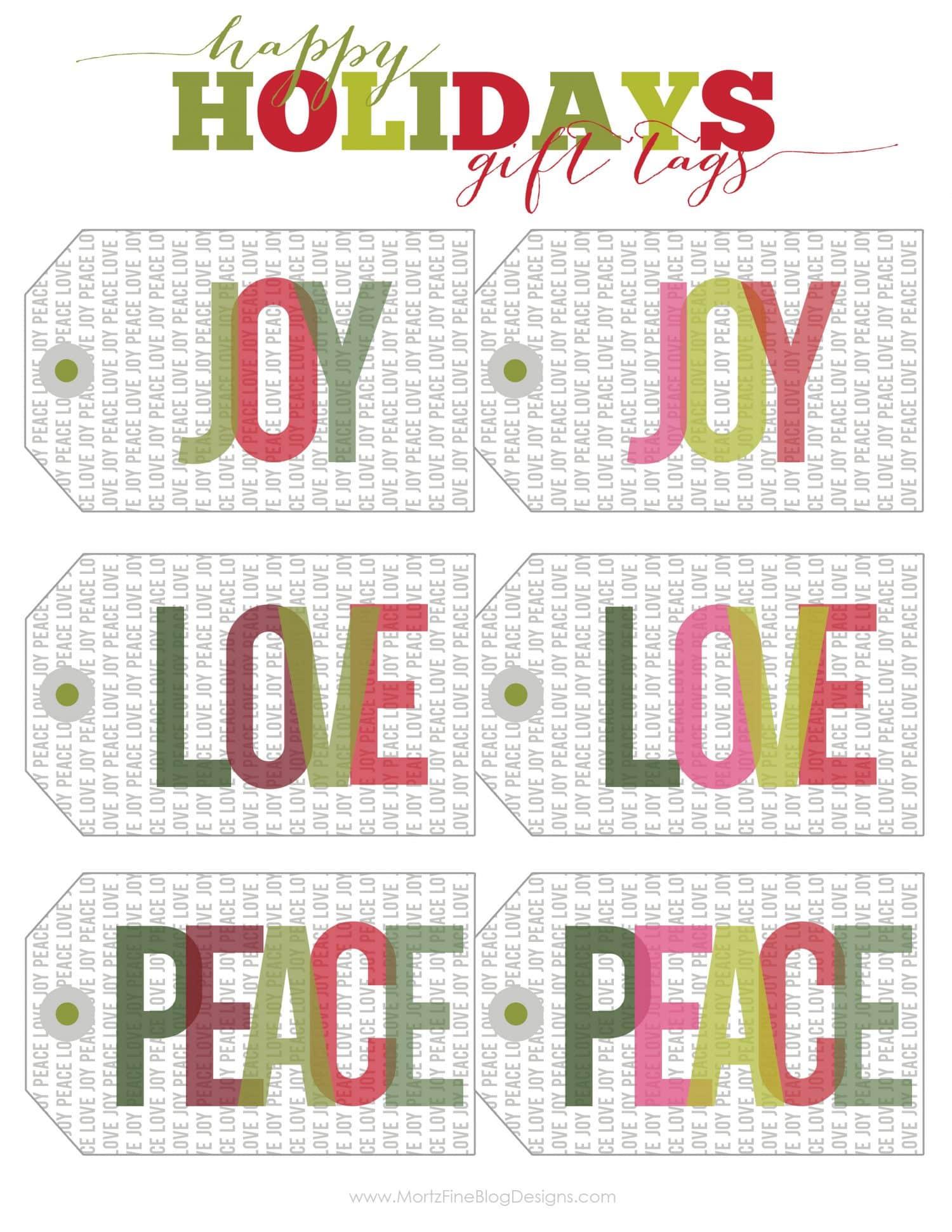 Christmas & Holiday Free Printable Gift Tags ...