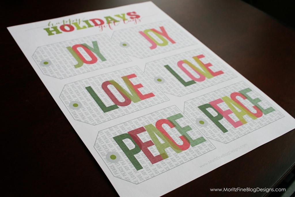 Christmas & Holiday Free Printable Gift Tags