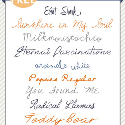 Best Ever Handwritten Cursive Fonts