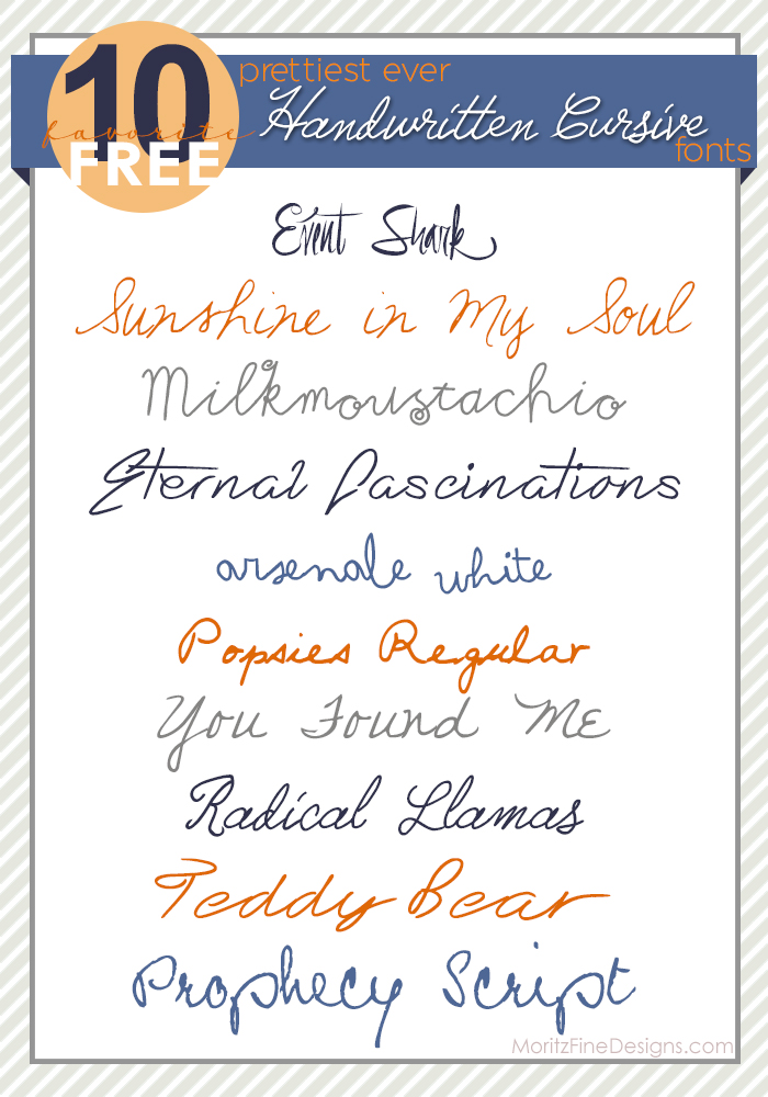 Best Ever Handwritten Cursive Fonts