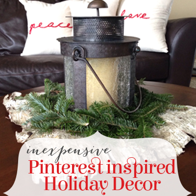 inexpensive pinterest-inspired holiday decor