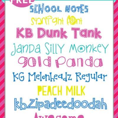 Super Fun Kid Fonts