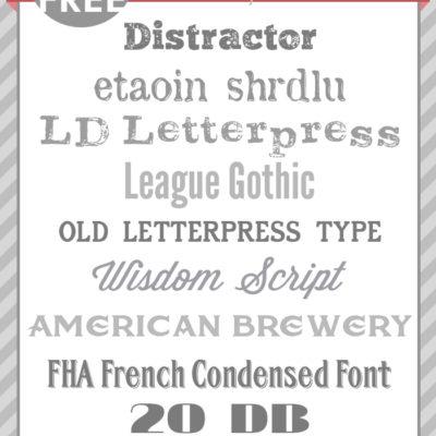 Best Free Letterpress Fonts
