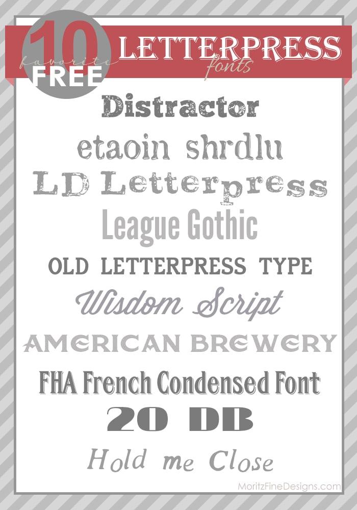letterpressfonts