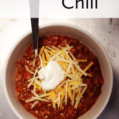 Not Your Ordinary Chili
