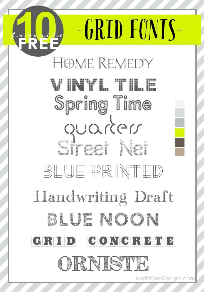 Grid Fonts | Free Font Friday
