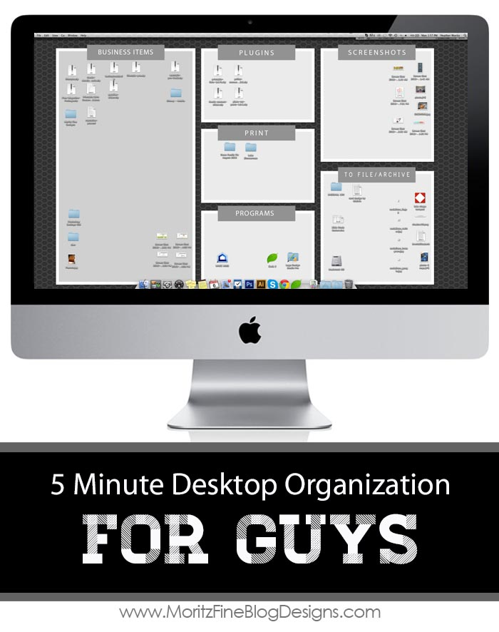 Technology Desktop Organization for Men | 5 minutes to an organized computer life