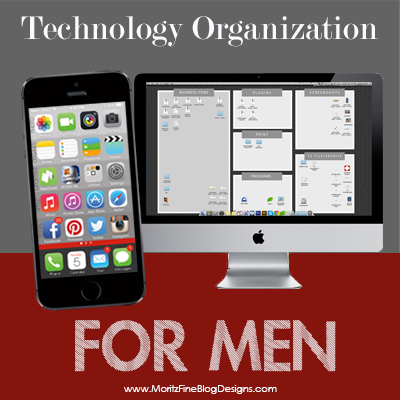 Technology Organization for Men, part 2…{DESKTOP ORGANIZATION}