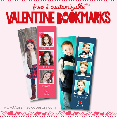 DIY Adorable Valentine Bookmarks of your Kids