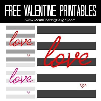 Lovely Valentine Printables