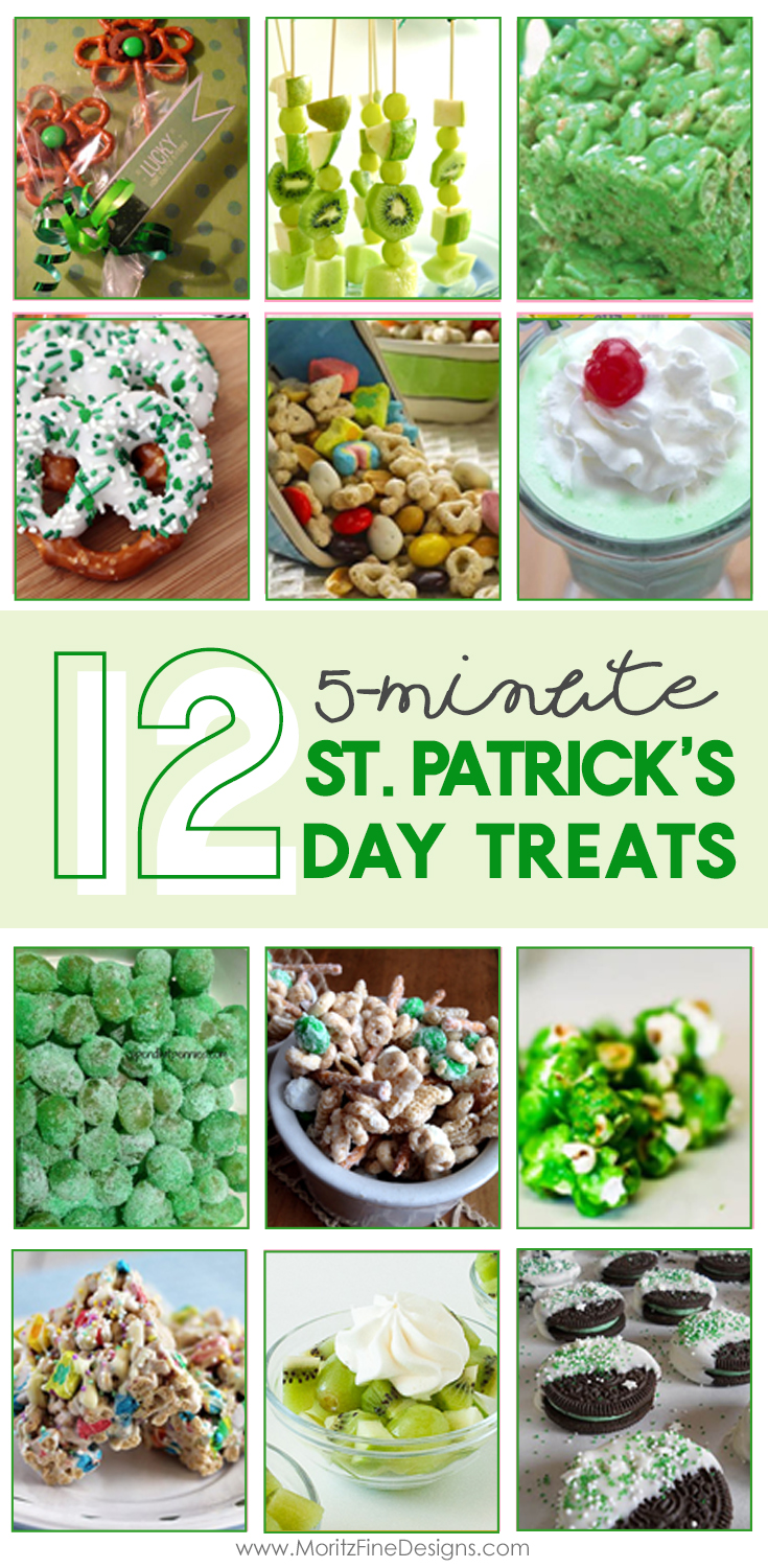 fast & easy 5-Minute St. Patrick's Day Treats | green holiday food | St. Patrick's Day food kids can make