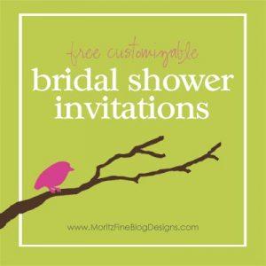 free customizable bridal shower invitations | www. MoritzFineBlogDesigns.com
