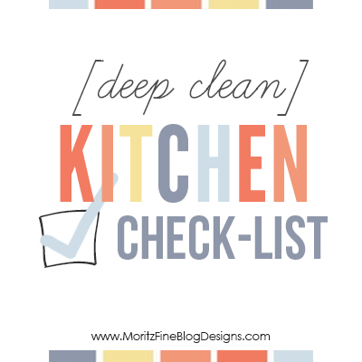 Deep clean kitchen checklist free printable included for Deep clean kitchen
