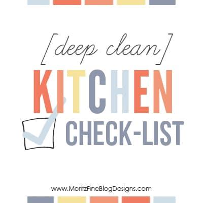 Kitchen Checklist deep clean kitchen checklist | free printable included