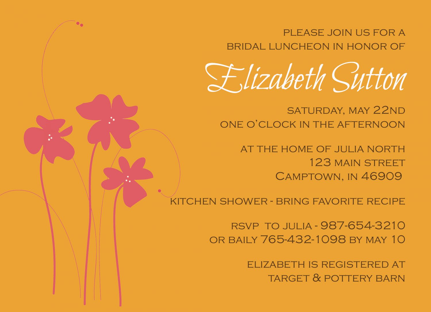 Free customizable bridal shower invitations free printable for How to make bridal shower invitations