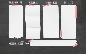 Chalkboard Computer Desktop Wallpaper Organizer