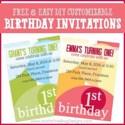 birthday invites | DIY birthday invitations | birthday party invitations | invitation templates | free printable