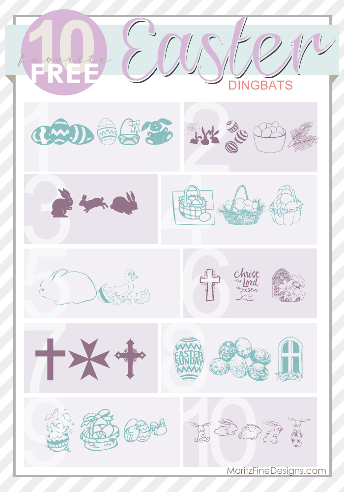 Best ever Free Illustrated Easter Fonts