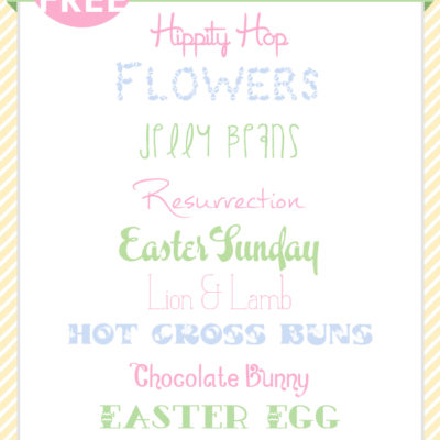 Easter Fonts | Free Font Friday