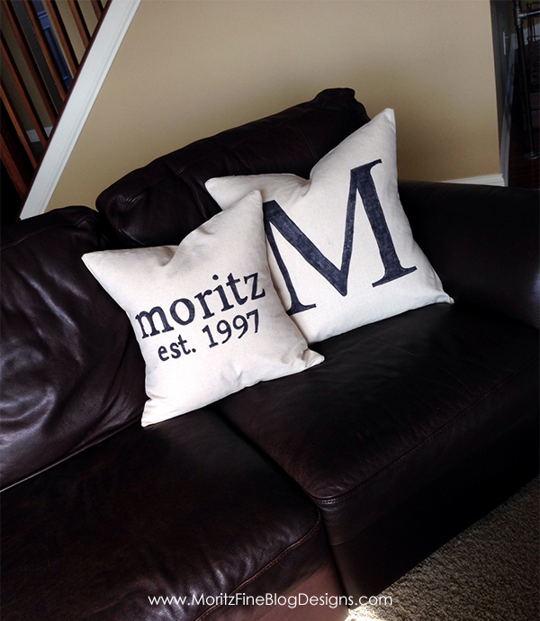 easy DIY Personalized Pillow