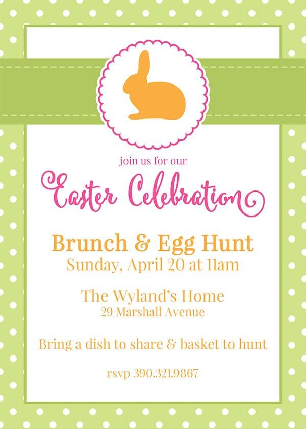 limebunny copy free customizable easter invitations from moritzfineblogdesigns com,Customize Invitations Free