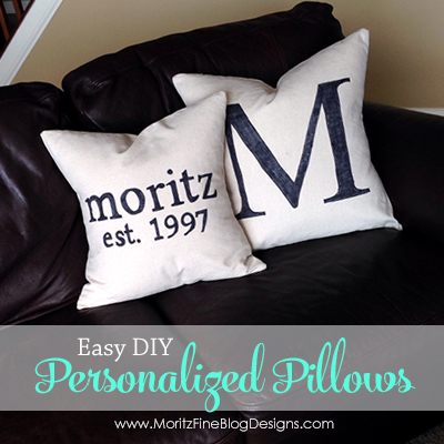 DIY Personalized Pillow