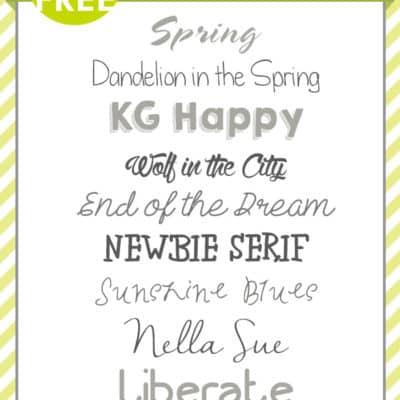 Spring Fonts | Free Font Friday
