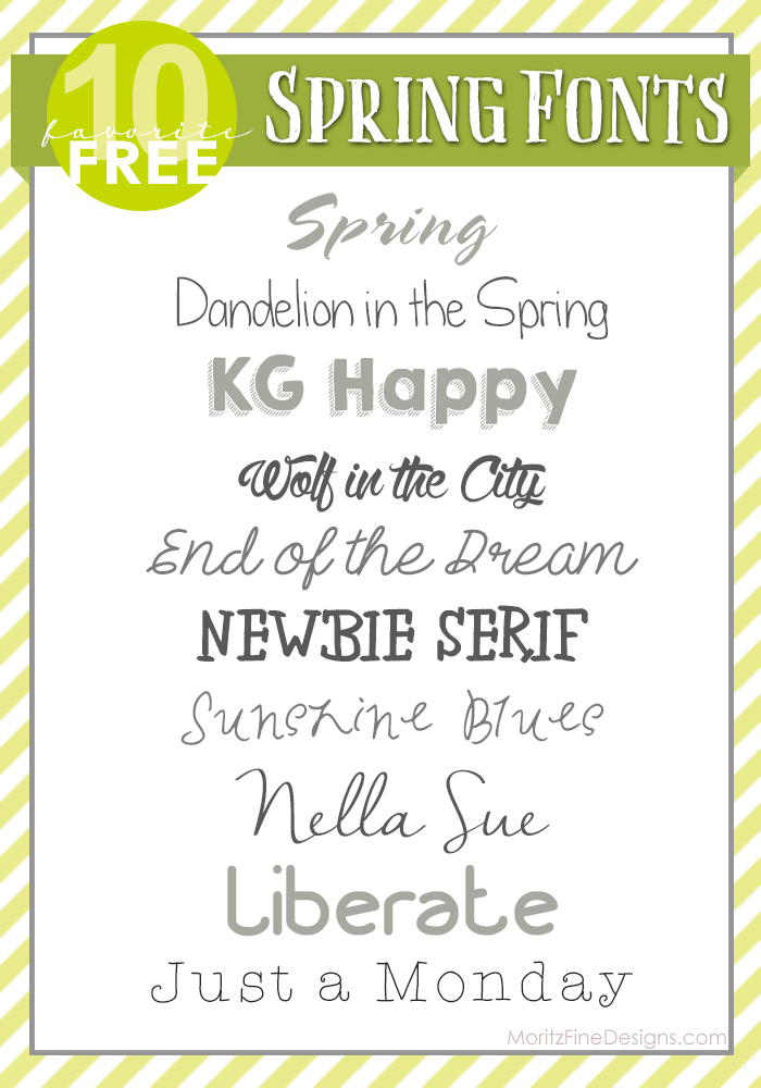 Spring Fonts | Free Font Friday