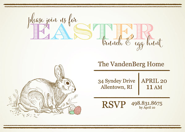 Free Customizable Easter Invitations