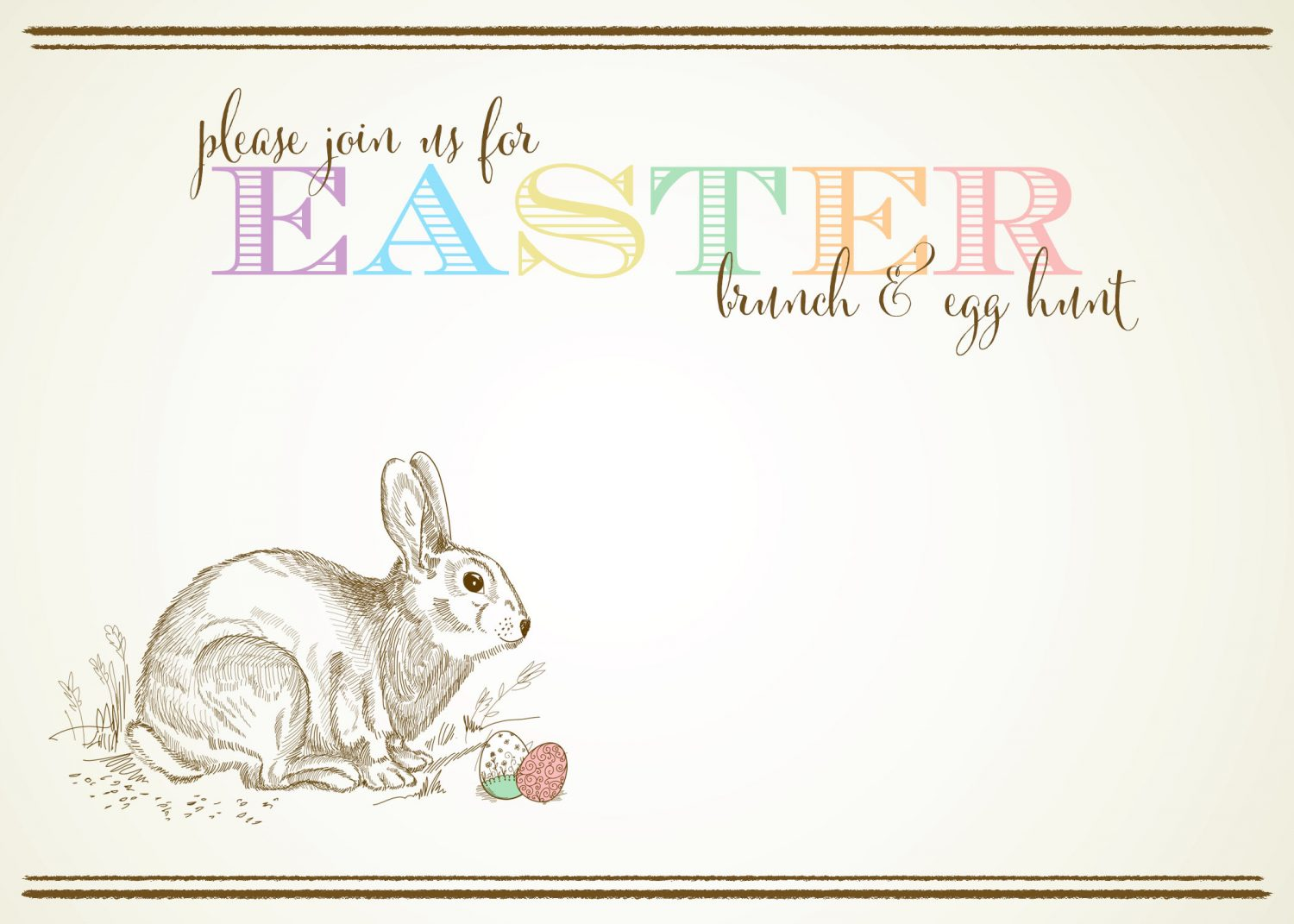Free Customizable Easter Invitations from MoritzFineBlogDesignscom