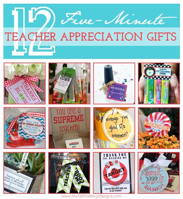{12} 5-Minute Teacher Appreciation Gift Ideas