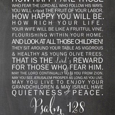 Psalm 128 Printable for your Home