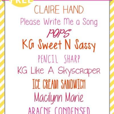 Best Hand Print Fonts | Free Font Friday