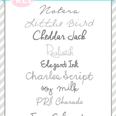Best Hand Script Fonts | Free Font Friday