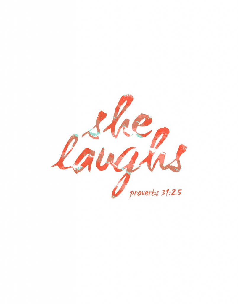 she laughs proverbs 3125 free printable included