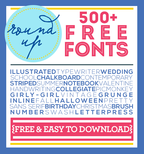 500+ Free Fonts