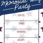 Memorial Day Invitation | Free Printable | Customize your Invitation | DIY Party Invite