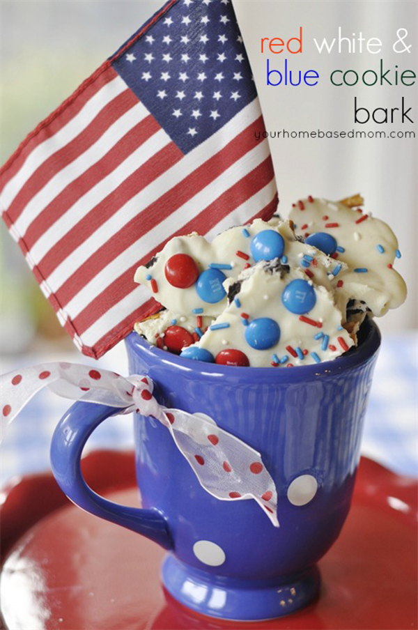 Five-Minute 4th of July Treats cookie bark