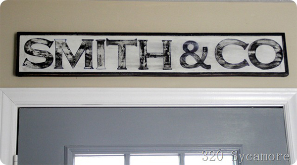DIY Family hand painted sign