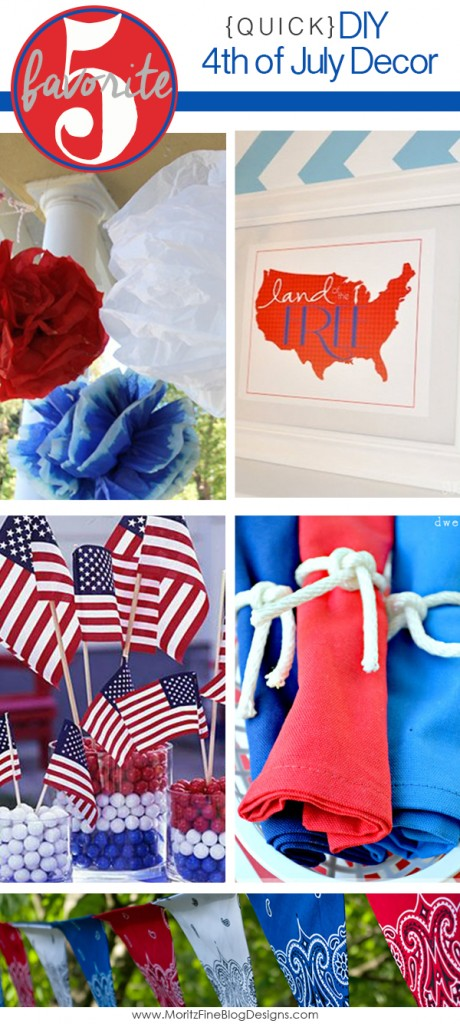 DIY Quick 4th of July Decorations