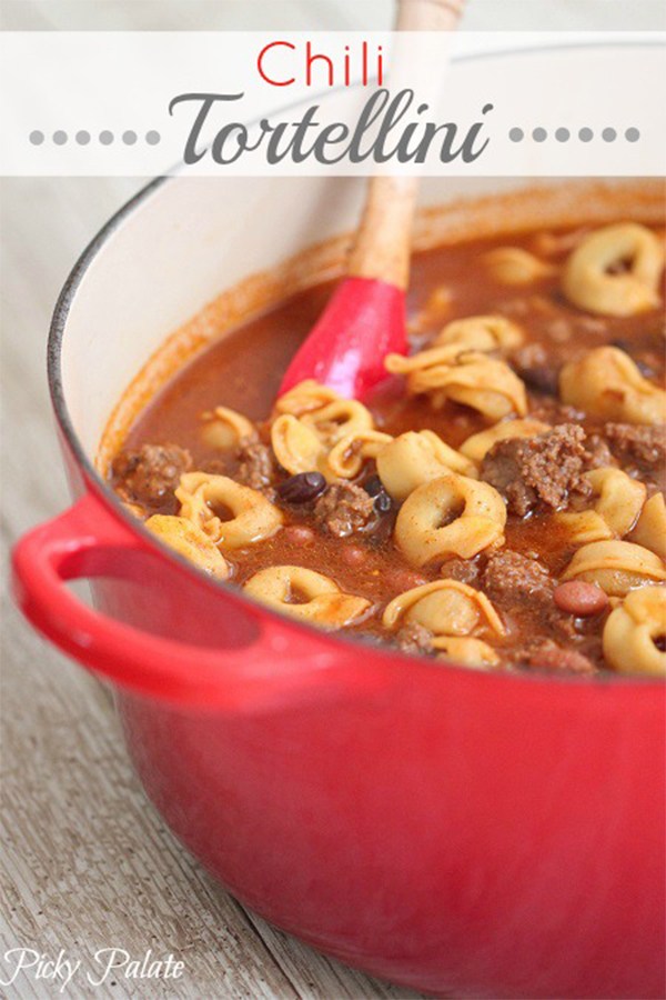 Hearty Chili Recipes to satisfy your hunger. You will be sure to find something you love with this Chili Tortellini