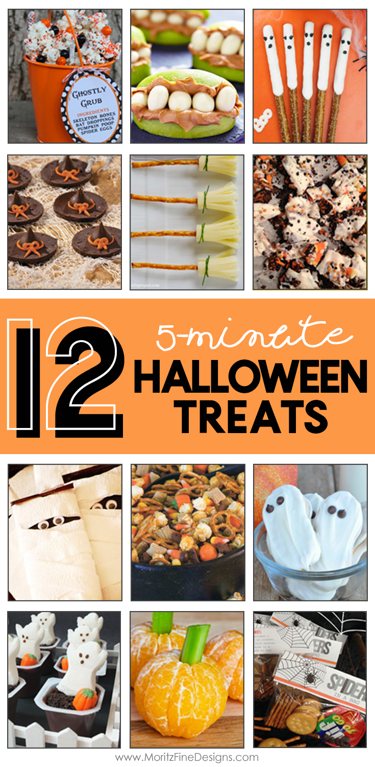 Easy Halloween Party Food   5-minute Halloween Treats   School Halloween Party Ideas   Halloween treats for kids & adults
