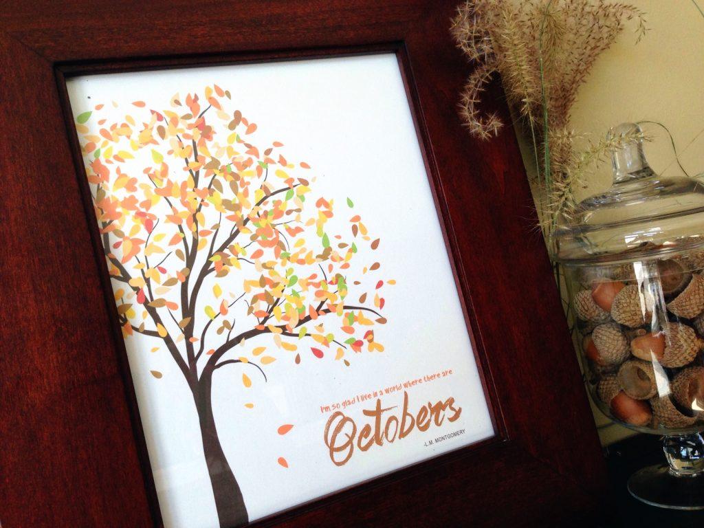 October Free Home Decor Printable