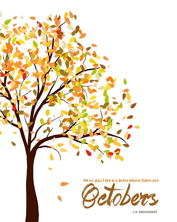 October Home Decor Printable
