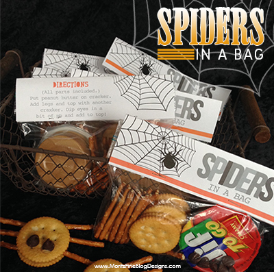 Spiders in a Bag Halloween Printable