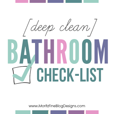 Deep Clean Bathroom Free Printable