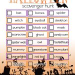 Send your kids on a Halloween adventure..give them this Halloween Scavenger Hunt to find all sorts of spooky and creepy Halloween things!