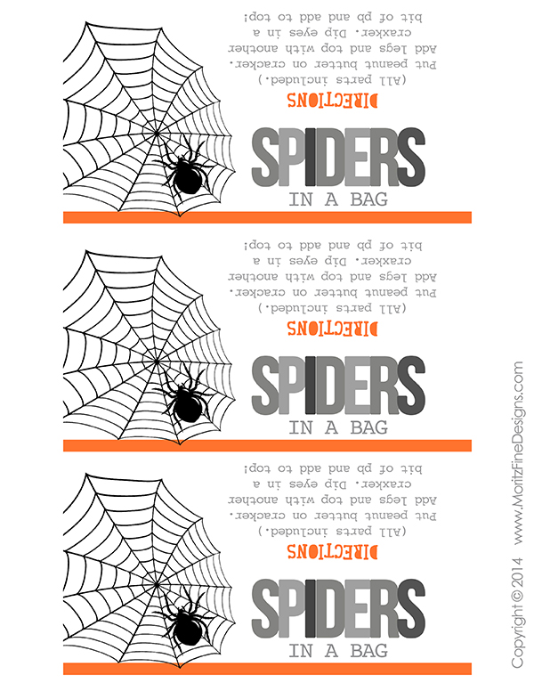 Spiders in a Bag are perfect for Halloween Parties or to put in your kid's lunches! Kids of all ages can build their own spider sandwiches!