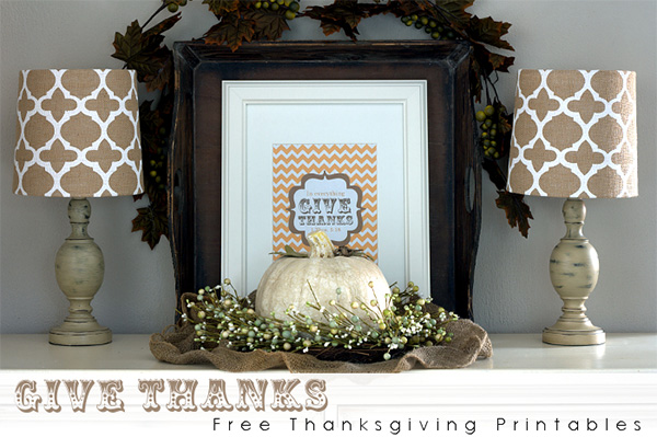 Free Home Decor Thanksgiving Printables